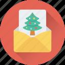 christmas, christmas card, greeting, greeting card, wishes icon