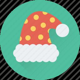 clothing, hat, santa cap, santa claus, santa hat icon
