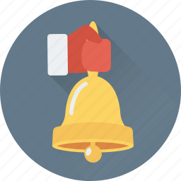 bell, celebration, christmas, christmas bell, waiter icon