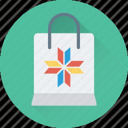 christmas, shopper, shopping, shopping bag, tote bag icon