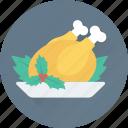food, grilled, chicken, roast, turkey