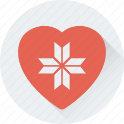 gift, gift box, heart, present, valentine, wrapped icon