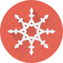 christmas, frost, snow falling, snowflake, winter icon