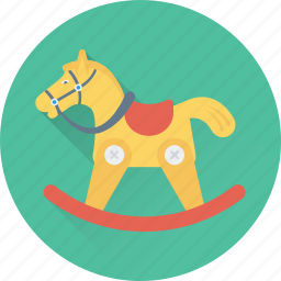 horse, horse toy, rocking chair, rocking horse, toy icon