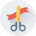 scissor, inauguration, cutting, ribbon, shear icon