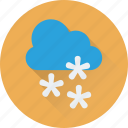 christmas, cloud, snow, snow falling, winter icon