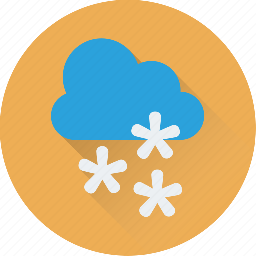 christmas, cloud, snow, snow falling, winter icon
