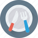 feast, fork, knife, plate, restaurant icon