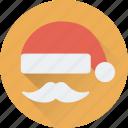 avatar, christmas, hat, moustache, santa icon