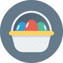 basket, easter, eggs, event, paschal eggs icon