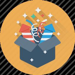 christmas gift, gift, gift box, present, surprise icon