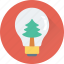 bulb, christmas, decorations, snowglobe, tree icon