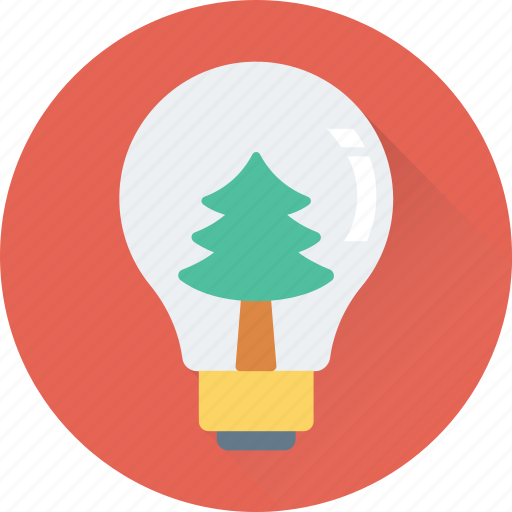 bulb, christmas, decorations, snowglobe, tree icon