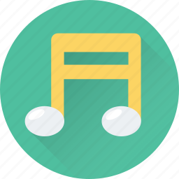 eighth note, melody, music, music note, quaver icon
