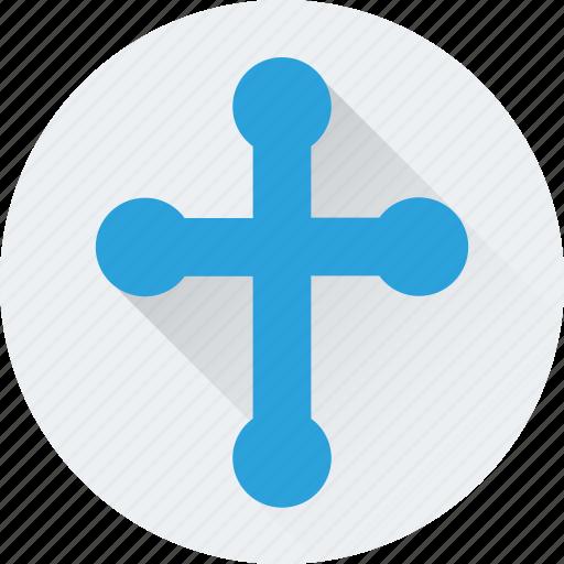 christian, church, holy cross, jesus, lights icon