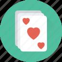 casino, gambling, game, heart card, poker