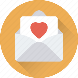 greetings, invitation, letter, love letter, postcard icon