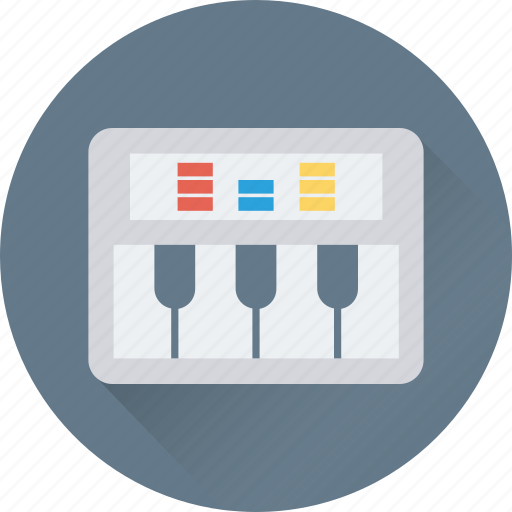 music, music instrument, piano, piano keyboard, synthesizer icon