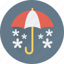 canopy, snow falling, sunshade, umbrella, winter icon