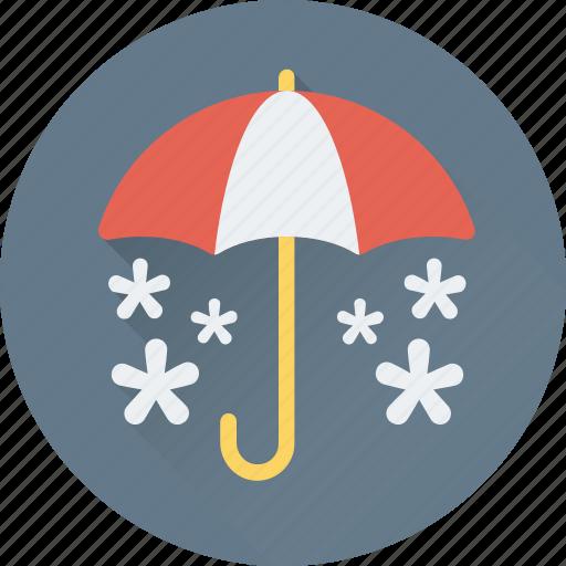 canopy, snow falling, sunshade, umbrella, winter icon