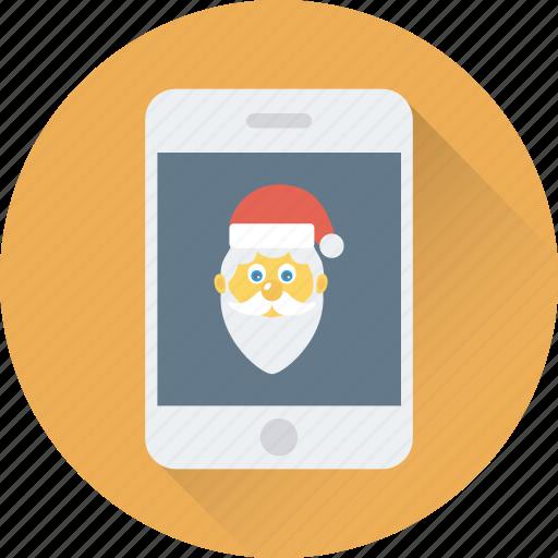app, christmas app, mobile, santa, smartphone icon