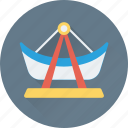 amusement, carnival, fair ride, funfair, ship ride icon