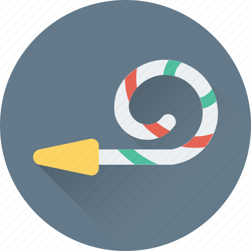 celebration, decorations, party, party horn, party whistle icon