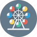 amusement park, carousel, fair ride, park, ride icon