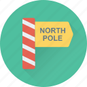 signpost, guide, xmas, christmas, north pole icon