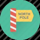 christmas, guide, north pole, signpost, xmas