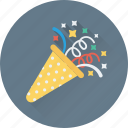confetti, party, party popper, streamers, decorations icon