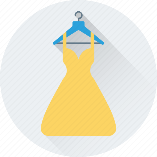 clothing, dress, hanger, party wear, woman dress icon