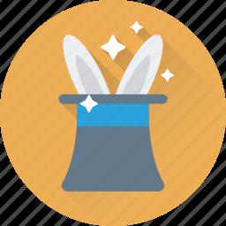 magic, magic trick, magician, magician hat, top hat icon