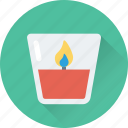 burning, candle, christmas, decoration, flame icon
