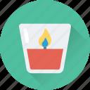 burning, candle, christmas, decoration, flame