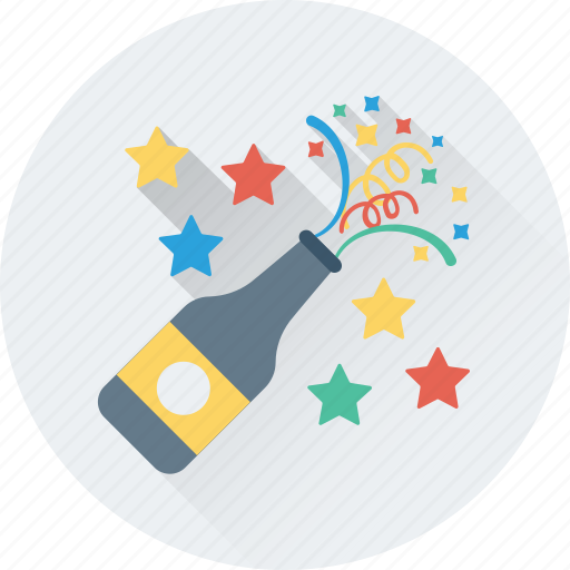 alcohol, celebration, champagne, party, popping cork icon