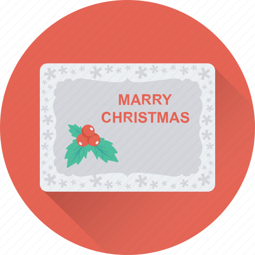 christmas, christmas card, greeting, greeting card, wishes icon