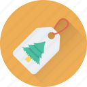 christmas sticker, christmas tag, label, shopping, tree icon
