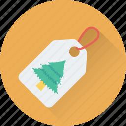 christmas sticker, christmas tag, label, shopping, tree icon