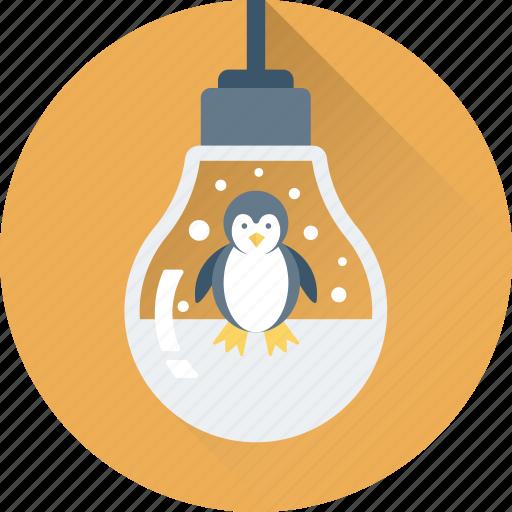 bauble, bulb, christmas, decorations, penguin icon