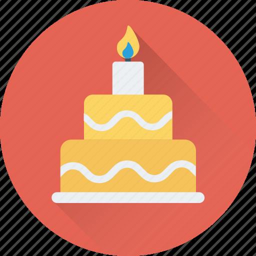 birthday cake, cake, candles, celebration, christmas cake icon