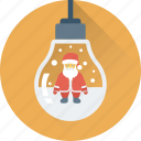 bauble, bulb, christmas, decorations, santa icon