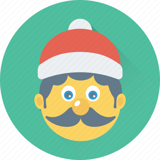 avatar, christmas, hipster, man, person icon