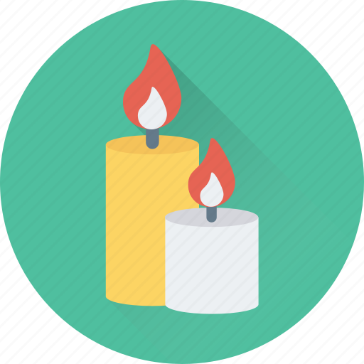 burning, candle, christmas, decoration, flame icon