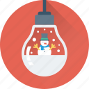 bauble, bulb, christmas, decorations, snowman icon