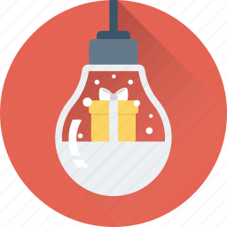 bauble, bulb, christmas, decorations, gift icon