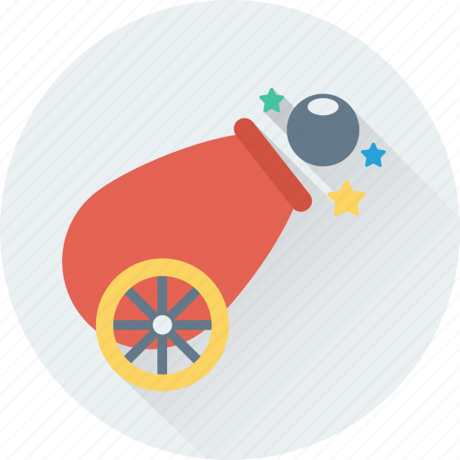bombard, cannon, carnival, circus, howitzer icon