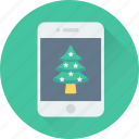 app, christmas app, mobile, smartphone, tree icon