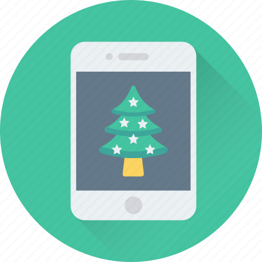 app, christmas app, mobile, smartphone, tree icon
