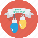bulb, christmas lights, decoration, lights, xmas icon
